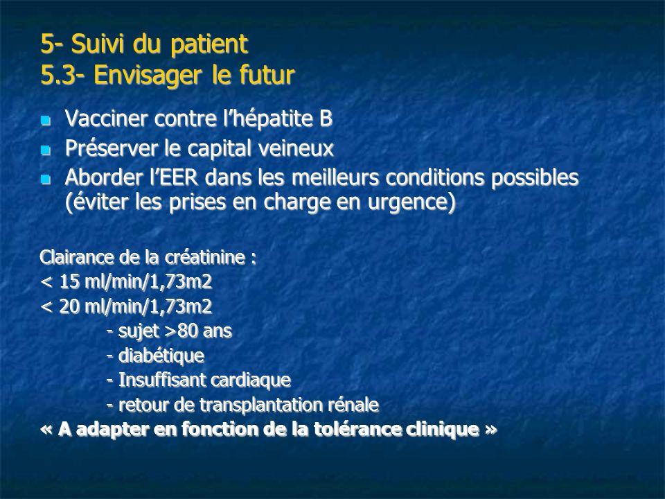 5- Suivi du patient 5.3- Envisager le futur