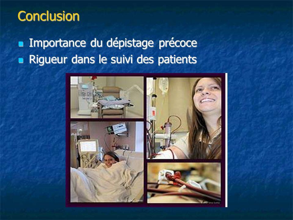 Conclusion Importance du dépistage précoce