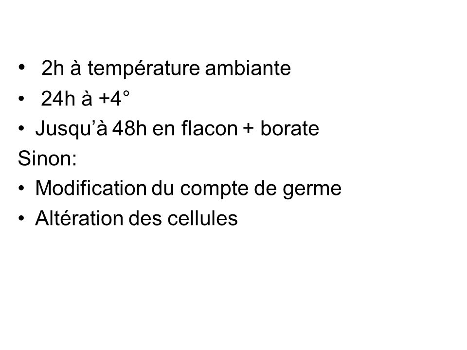 2h à température ambiante