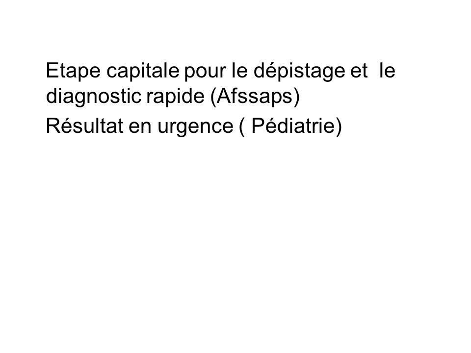 Etape capitale pour le dépistage et le diagnostic rapide (Afssaps)