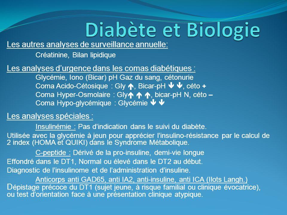 Diabète et Biologie Créatinine, Bilan lipidique