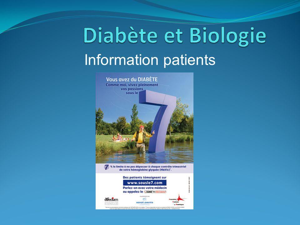 Diabète et Biologie Information patients