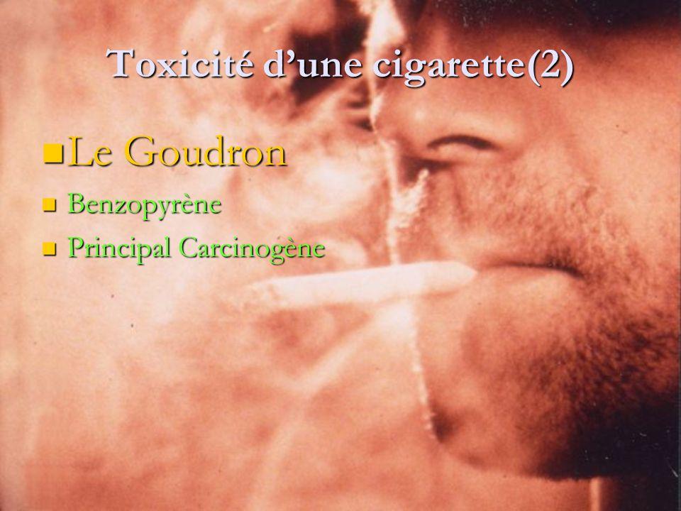 Toxicité d'une cigarette(2)