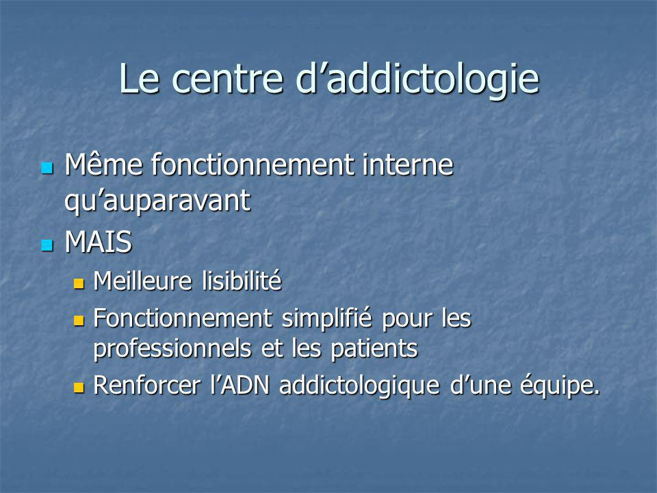 Le centre d'addictologie