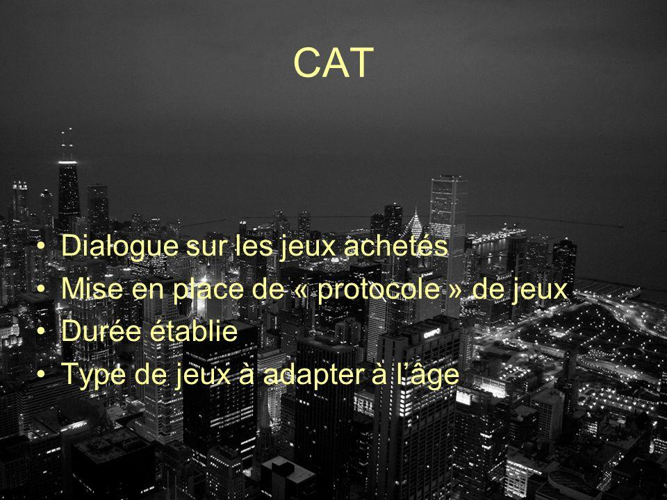 CAT Dialogue sur les jeux achetés