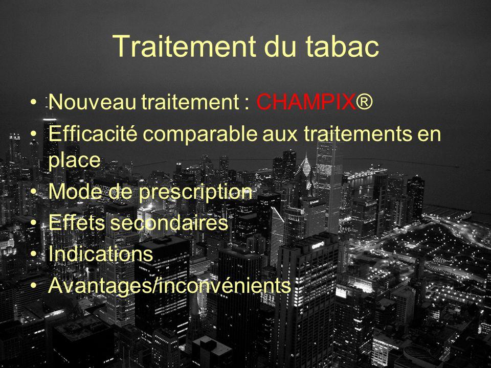 Traitement du tabac Nouveau traitement : CHAMPIX®