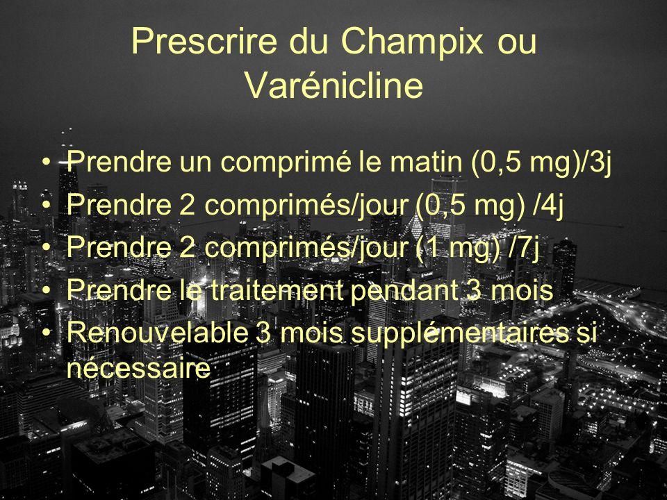Prescrire du Champix ou Varénicline