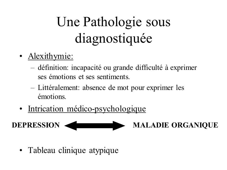 Une Pathologie sous diagnostiquée