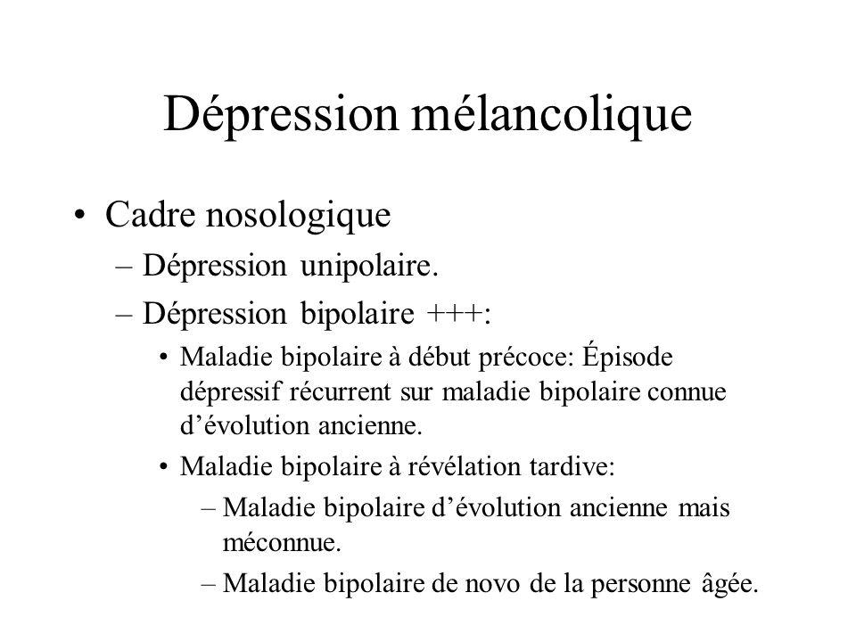 Dépression mélancolique