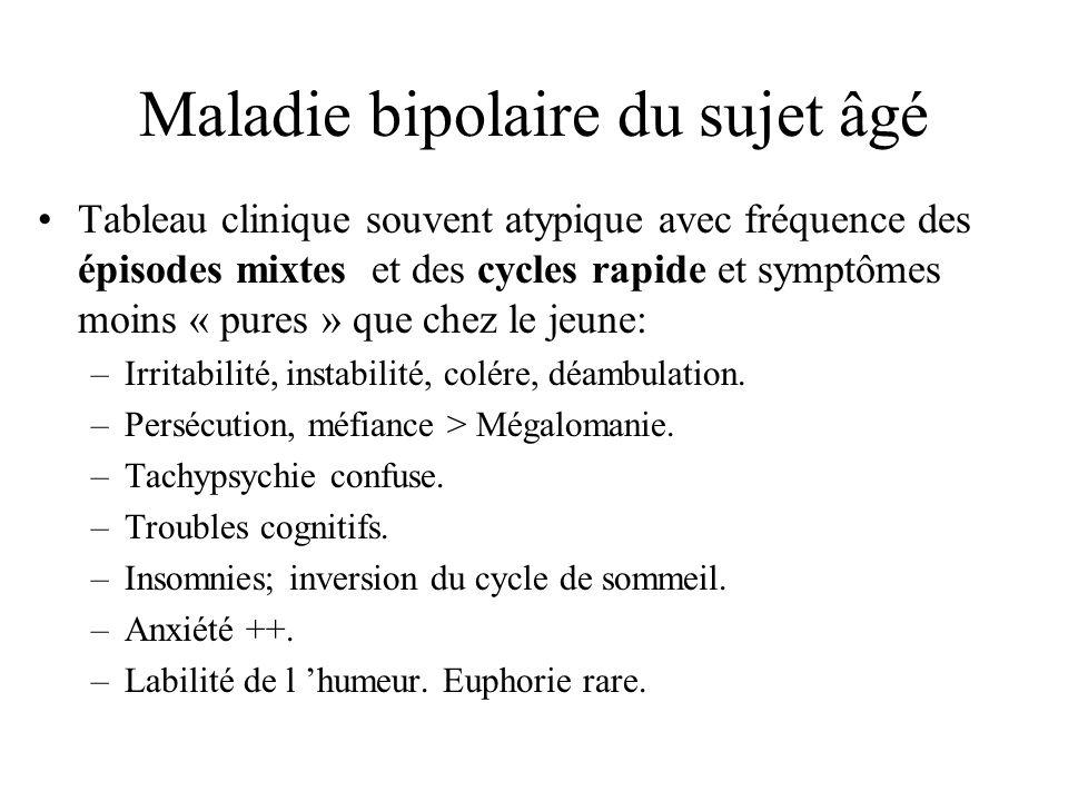 Maladie bipolaire du sujet âgé