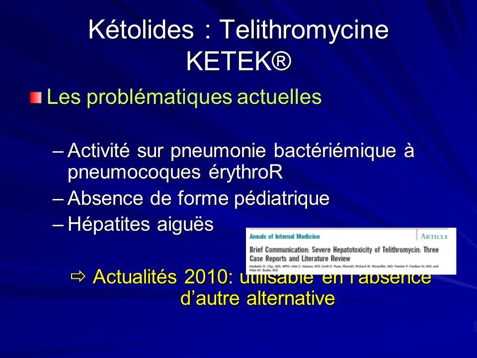 Kétolides : Telithromycine KETEK®