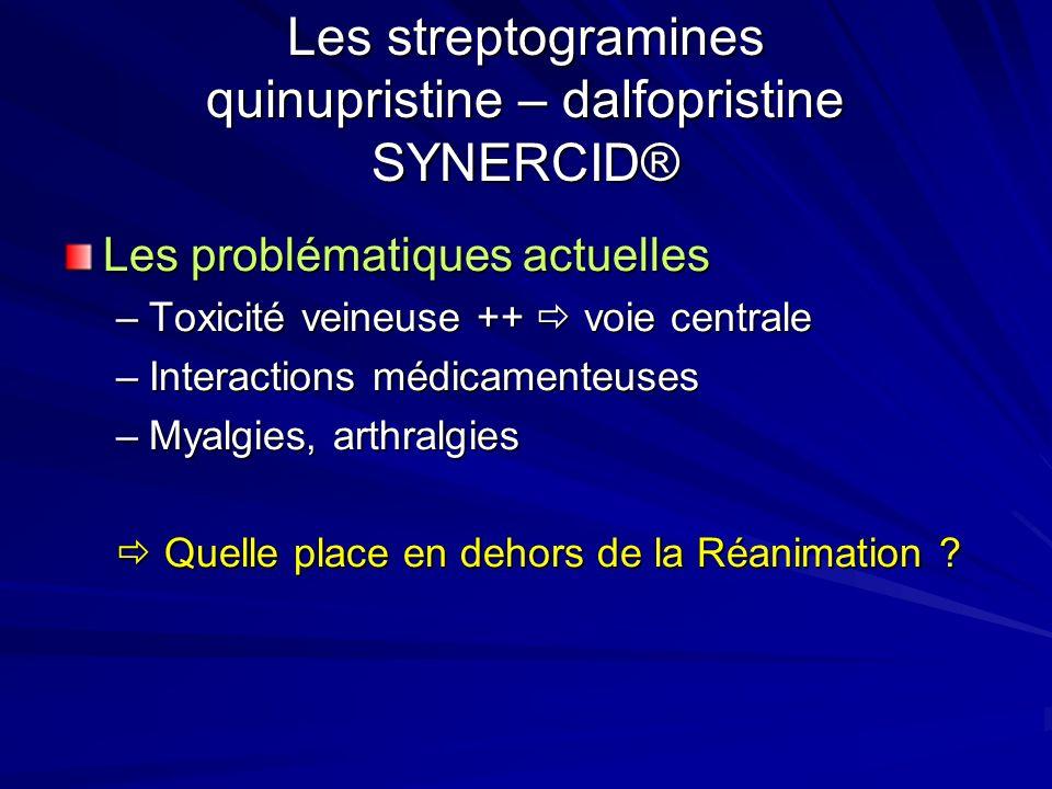 Les streptogramines quinupristine – dalfopristine SYNERCID®