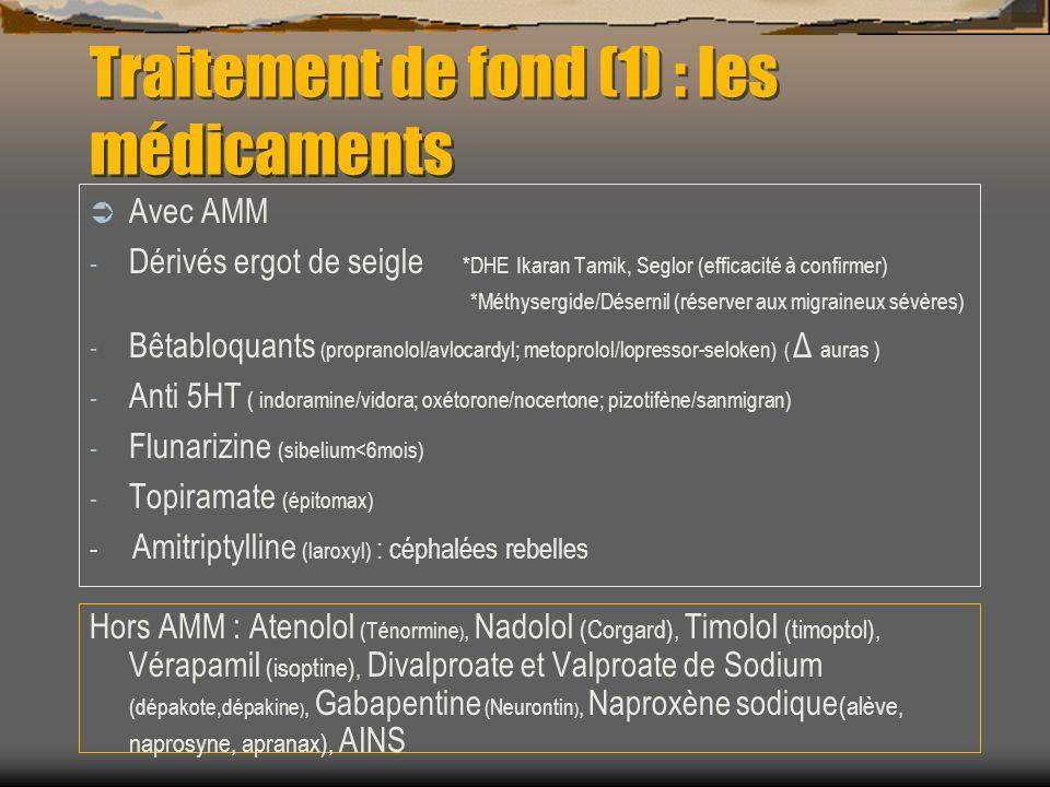 Traitement de fond (1) : les médicaments