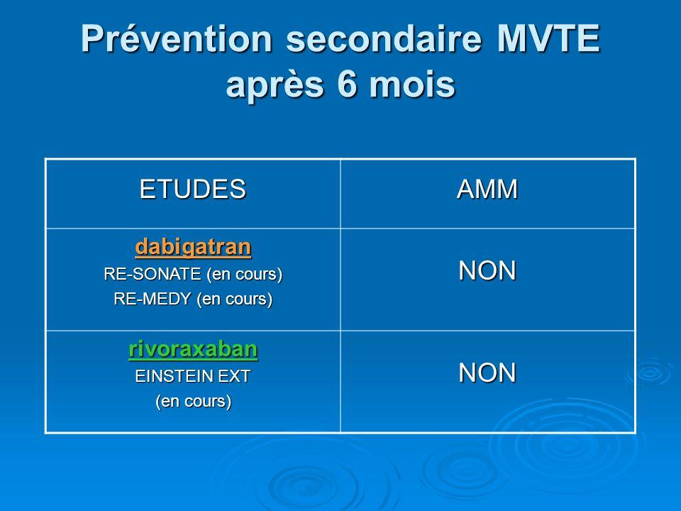 Prévention secondaire MVTE après 6 mois