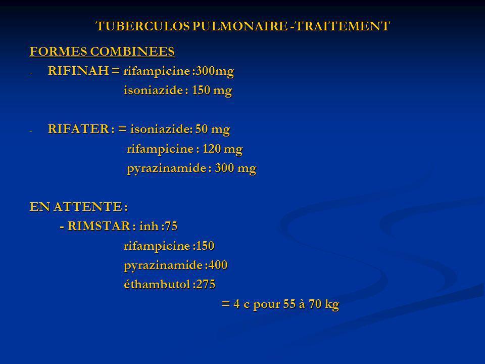 TUBERCULOS PULMONAIRE -TRAITEMENT