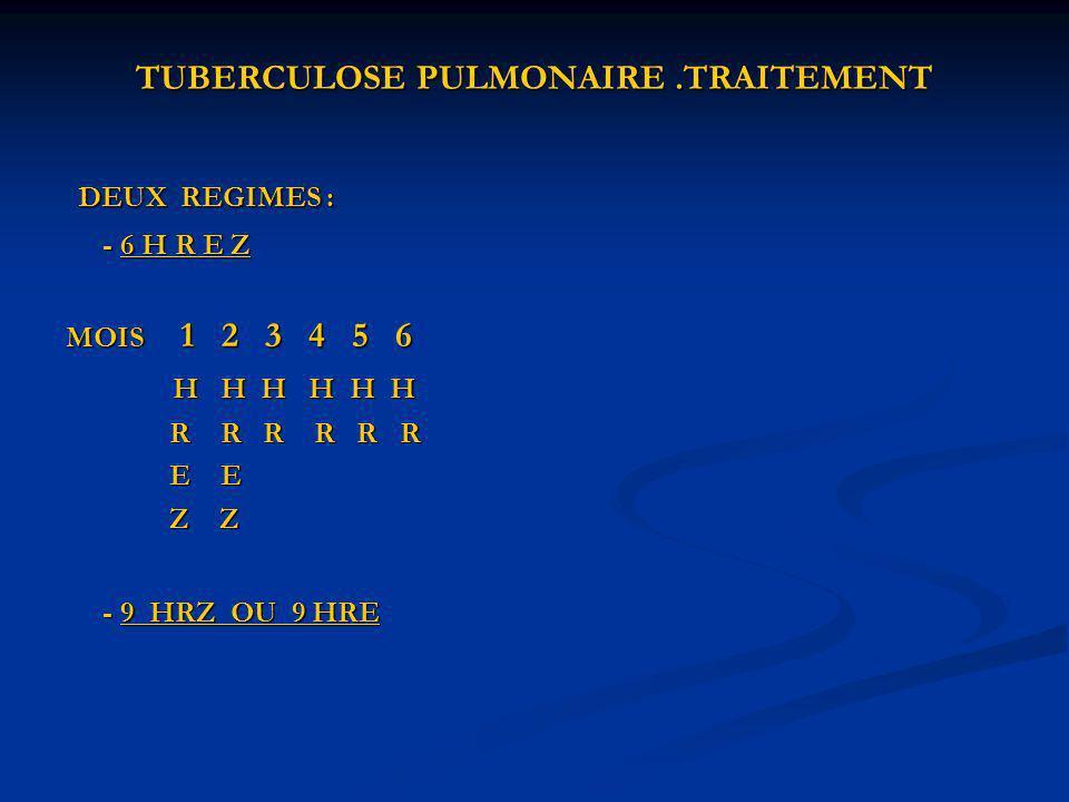 TUBERCULOSE PULMONAIRE .TRAITEMENT