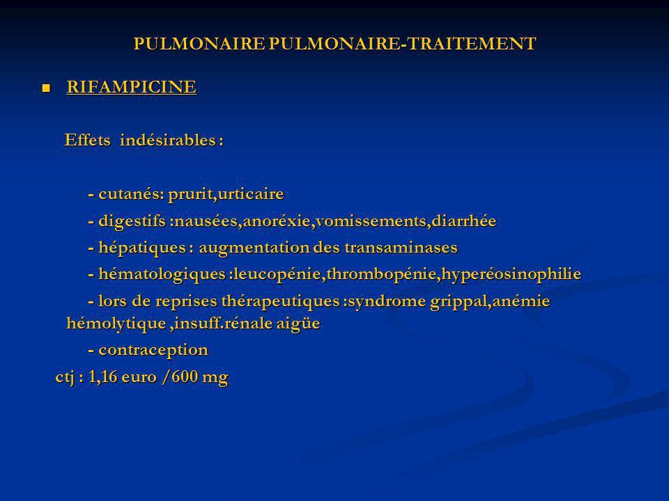 PULMONAIRE PULMONAIRE-TRAITEMENT