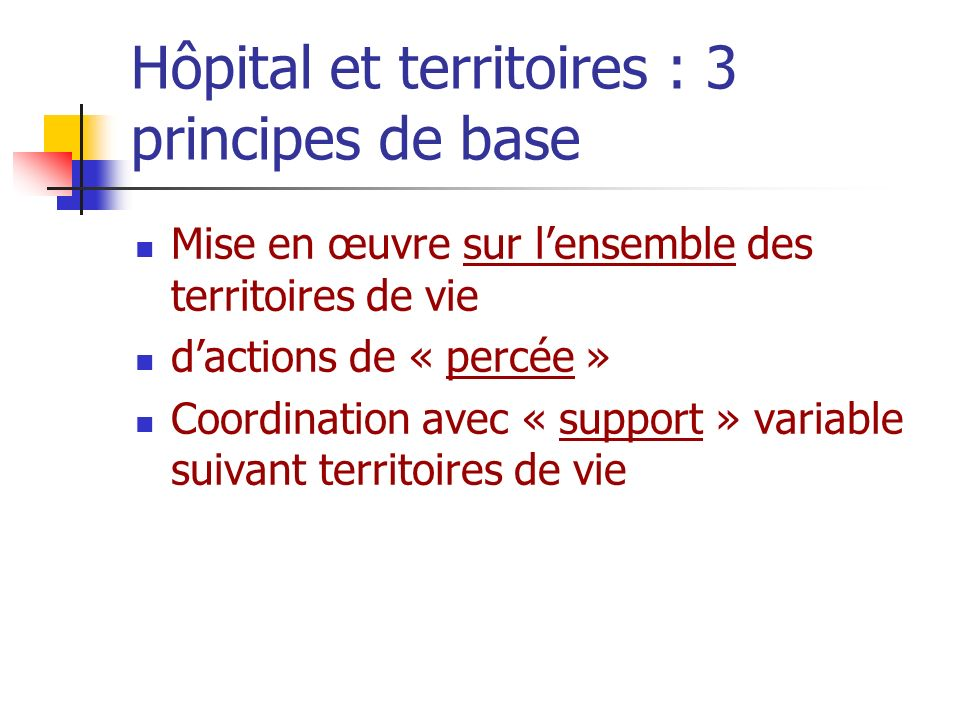 Hôpital et territoires : 3 principes de base