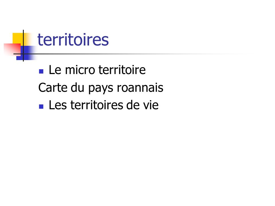 territoires Le micro territoire Carte du pays roannais
