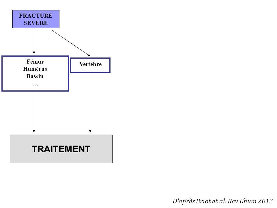 TRAITEMENT D'après Briot et al. Rev Rhum 2012 FRACTURE SEVERE Fémur