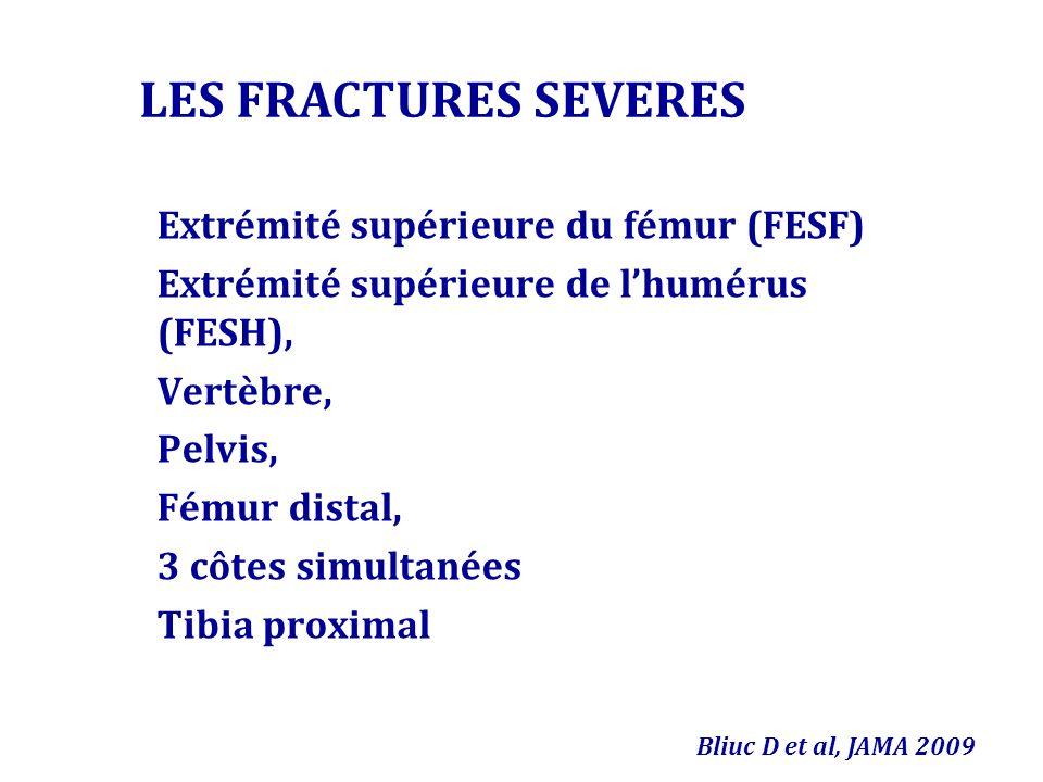 LES FRACTURES SEVERES Extrémité supérieure du fémur (FESF)