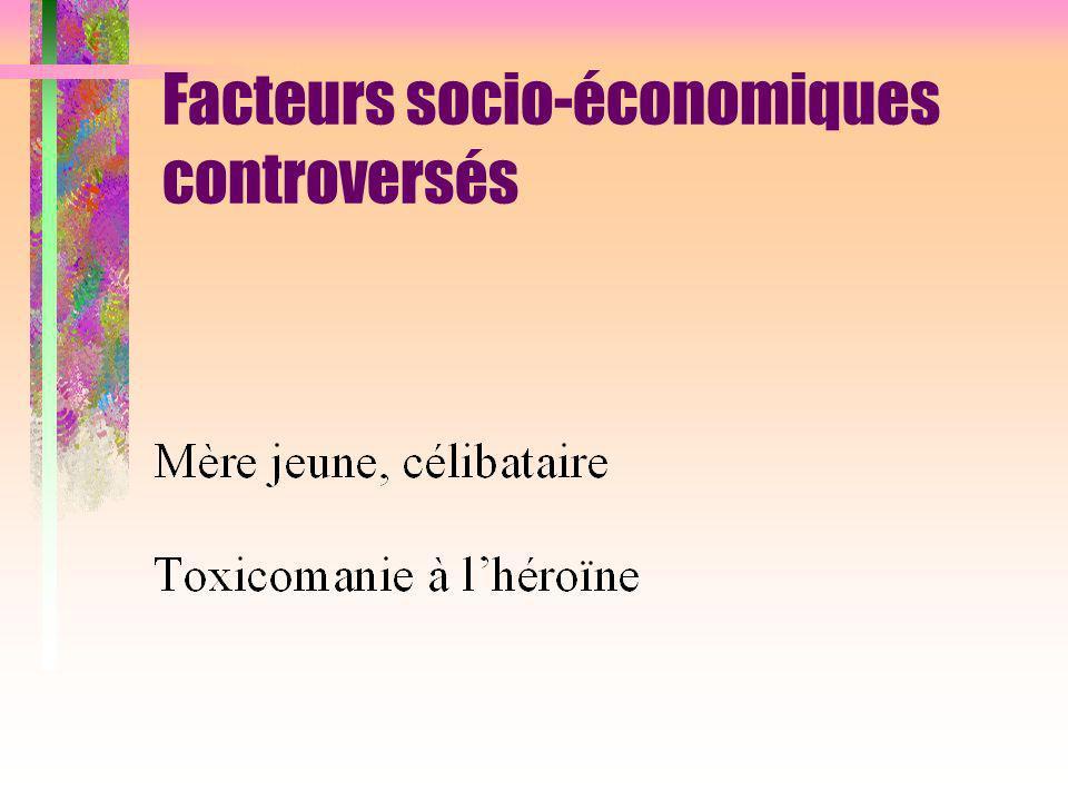 Facteurs socio-économiques controversés