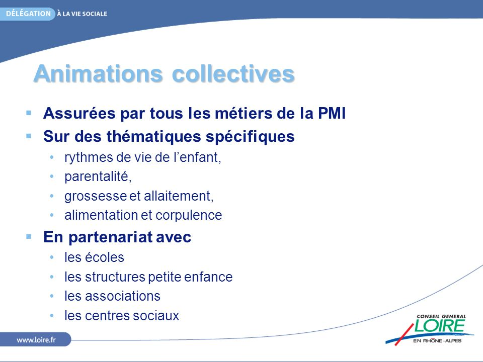 Animations collectives