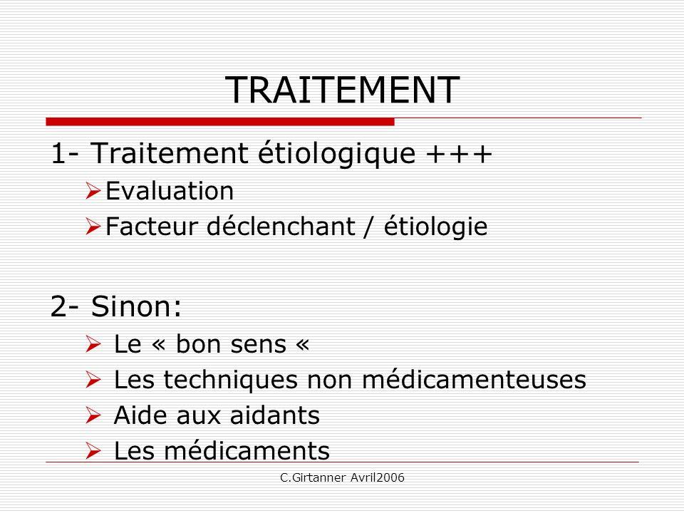 TRAITEMENT 1- Traitement étiologique +++ 2- Sinon: Evaluation