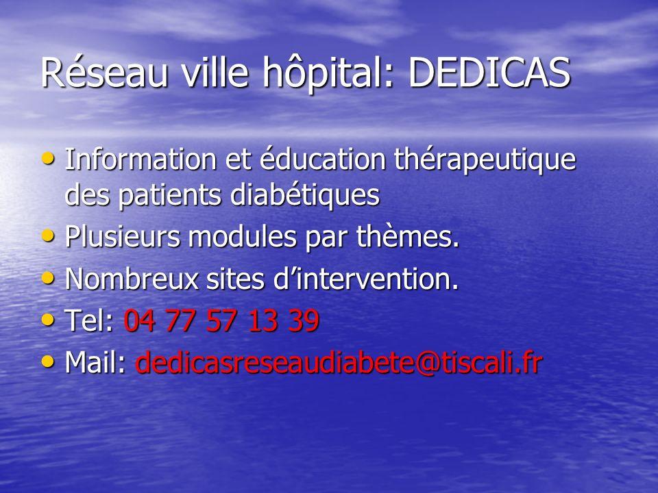 Réseau ville hôpital: DEDICAS
