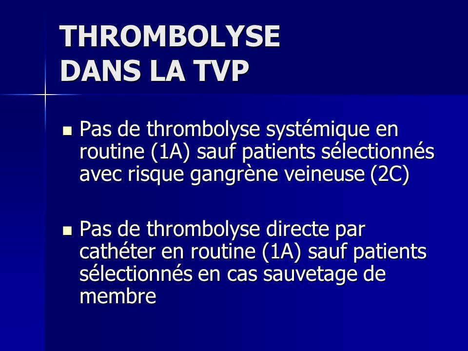 THROMBOLYSE DANS LA TVP