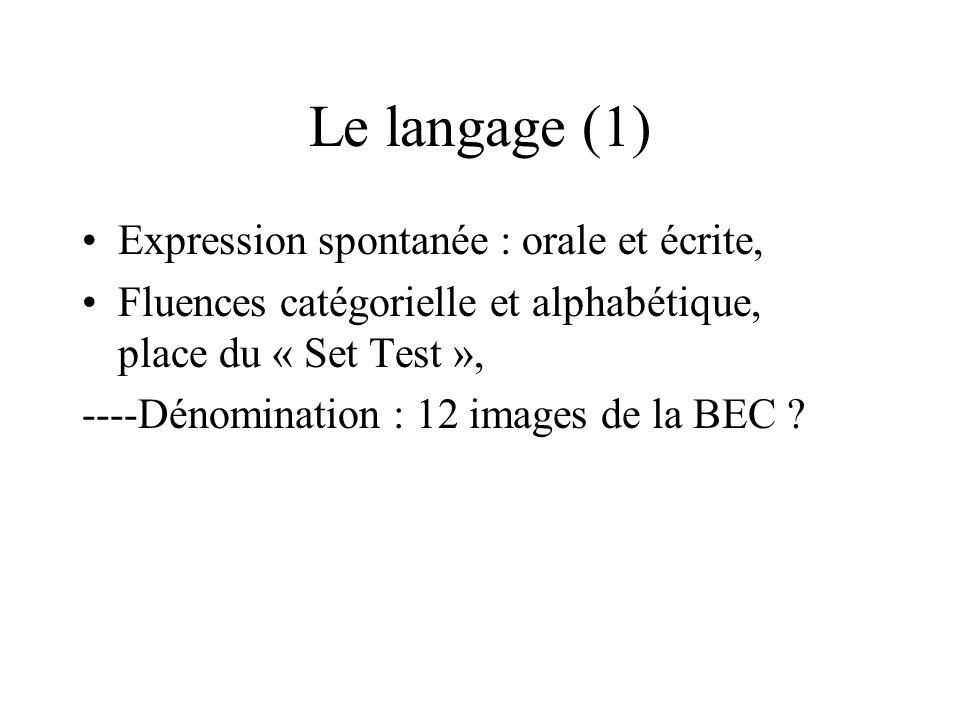 Le langage (1) Expression spontanée : orale et écrite,