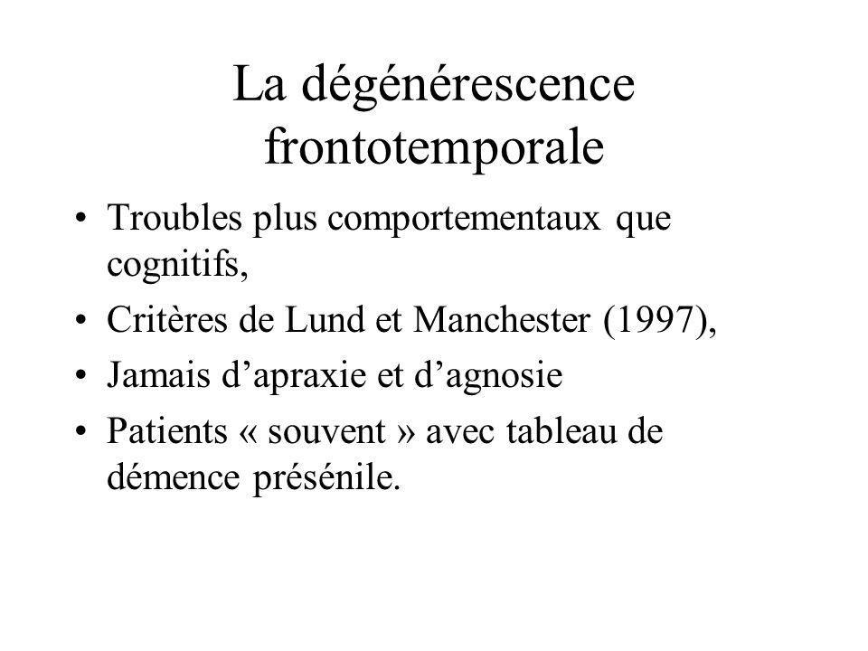 La dégénérescence frontotemporale