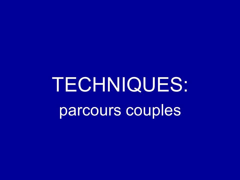 TECHNIQUES: parcours couples