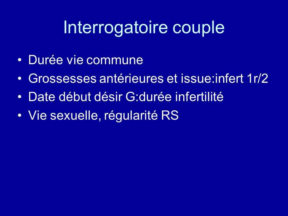 Interrogatoire couple