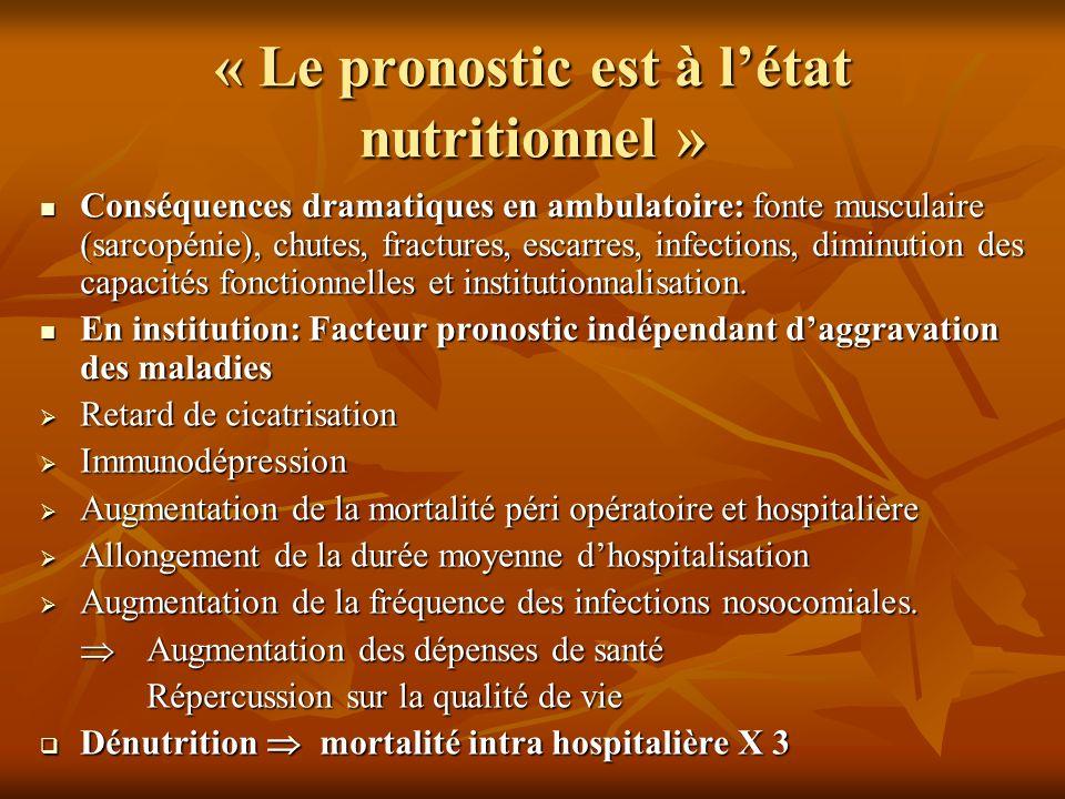 « Le pronostic est à l'état nutritionnel »