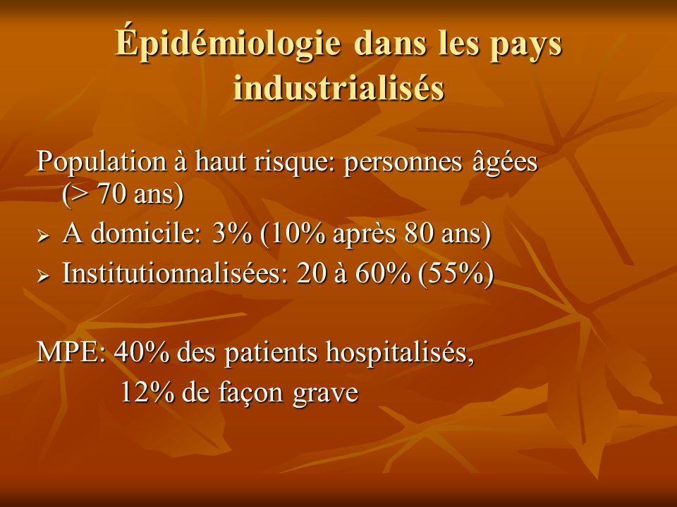 Épidémiologie dans les pays industrialisés