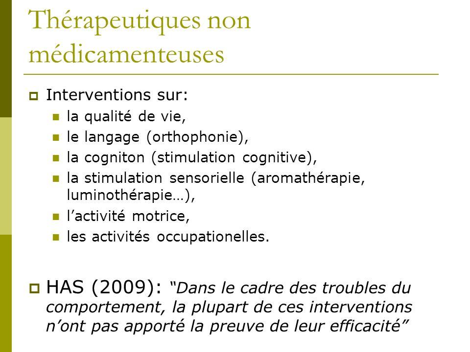 Thérapeutiques non médicamenteuses