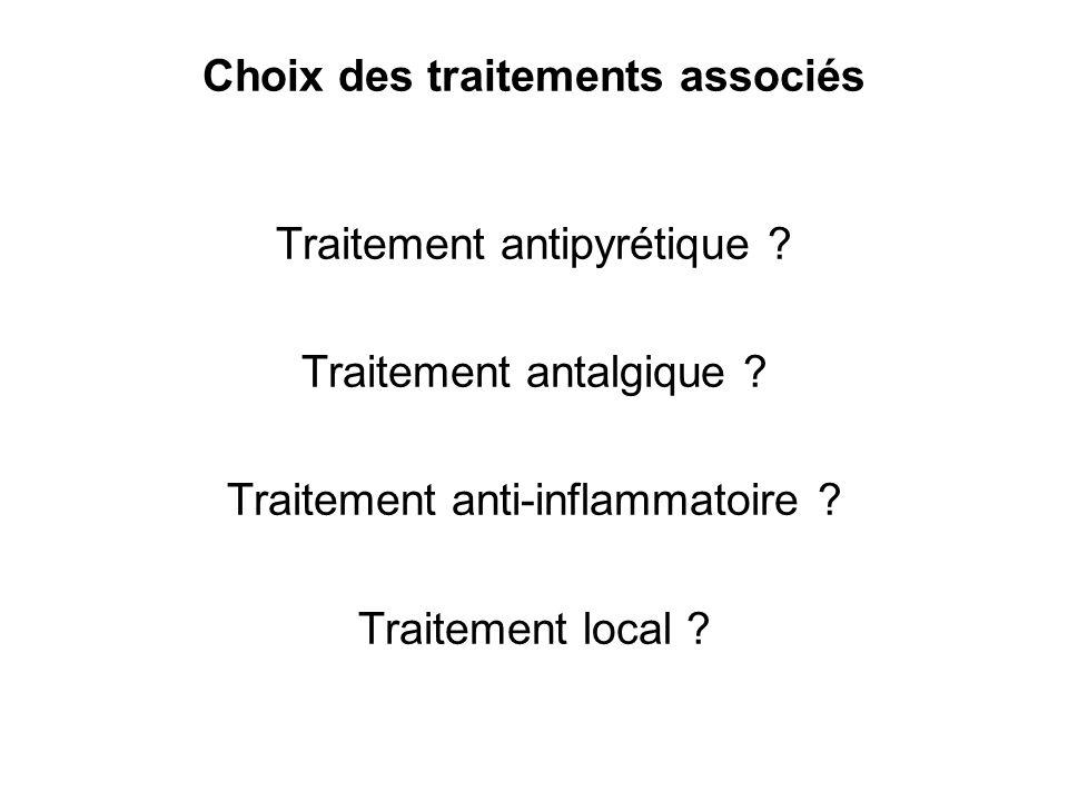 Choix des traitements associés