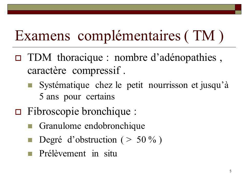 Examens complémentaires ( TM )