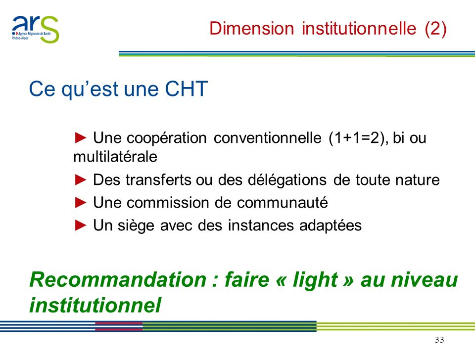 Dimension institutionnelle (2)