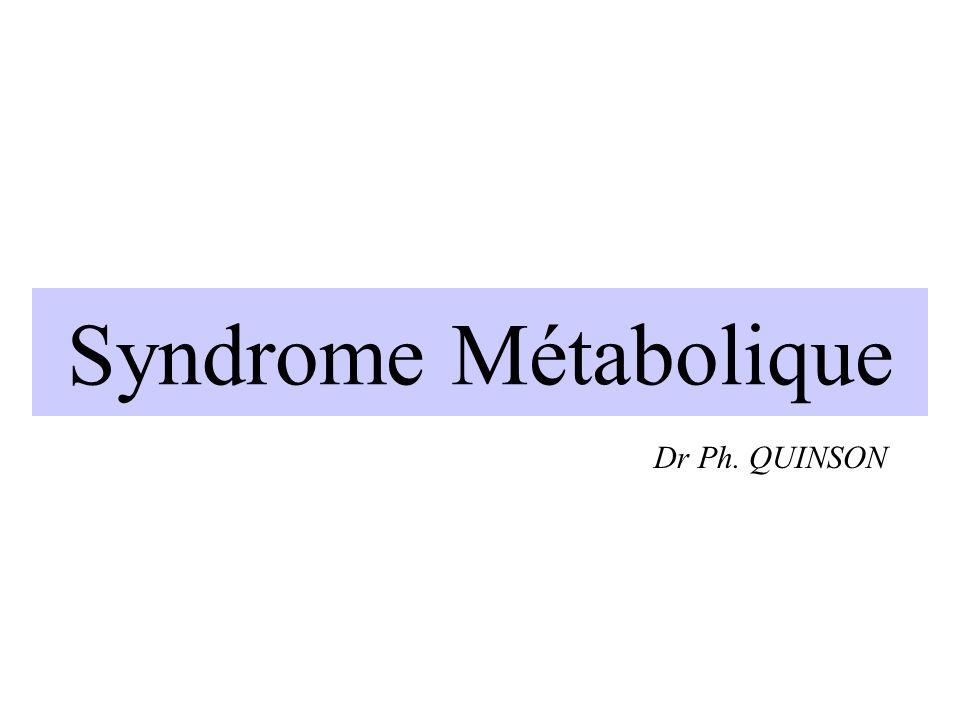 Syndrome Métabolique Dr Ph. QUINSON EPU du 26 janvier 2006