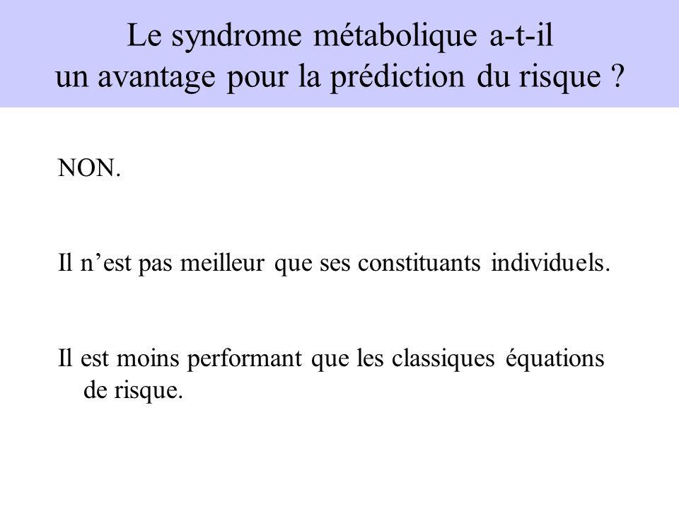 Le syndrome métabolique a-t-il un avantage pour la prédiction du risque