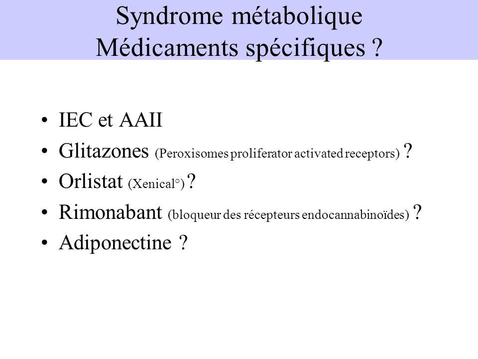 Syndrome métabolique Médicaments spécifiques