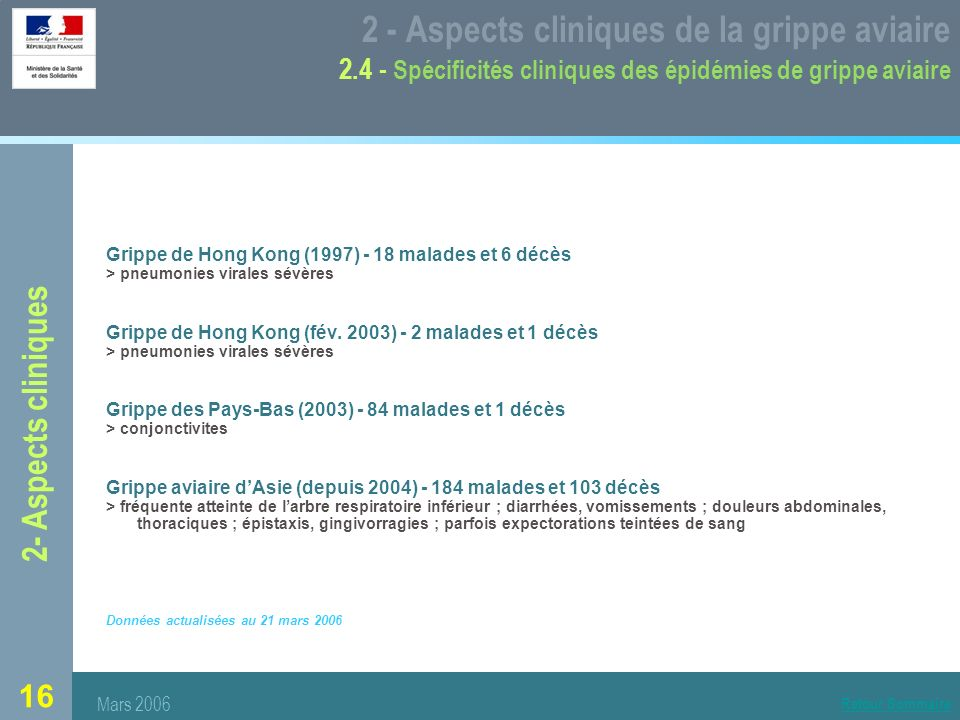 2 - Aspects cliniques de la grippe aviaire 2
