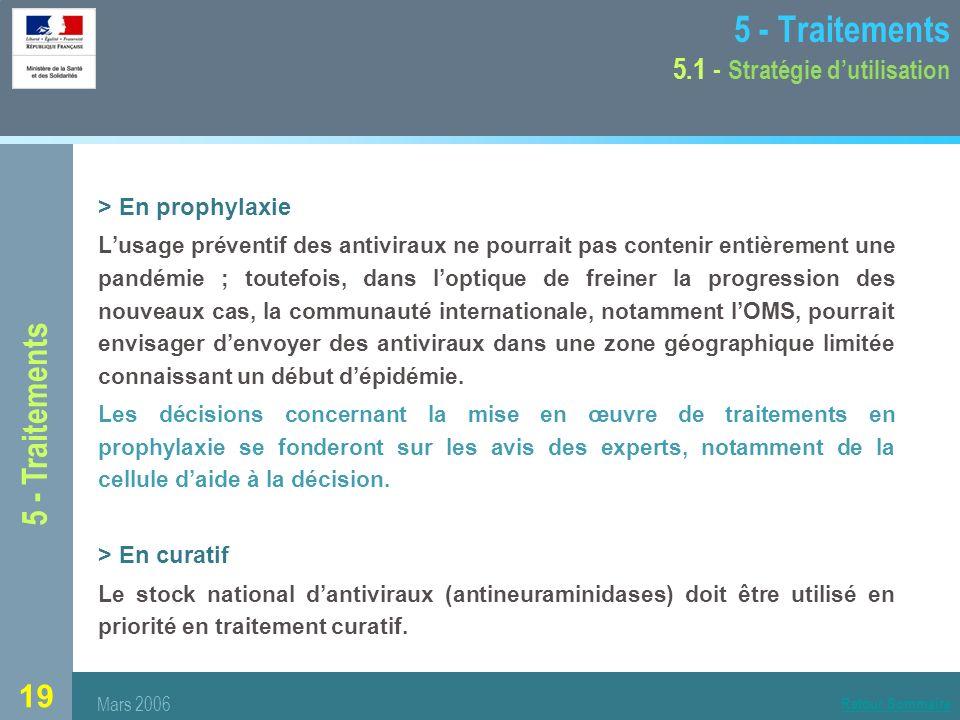 5 - Traitements 5.1 - Stratégie d'utilisation