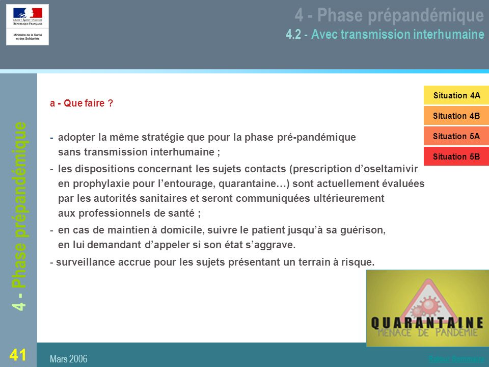 4 - Phase prépandémique 4.2 - Avec transmission interhumaine