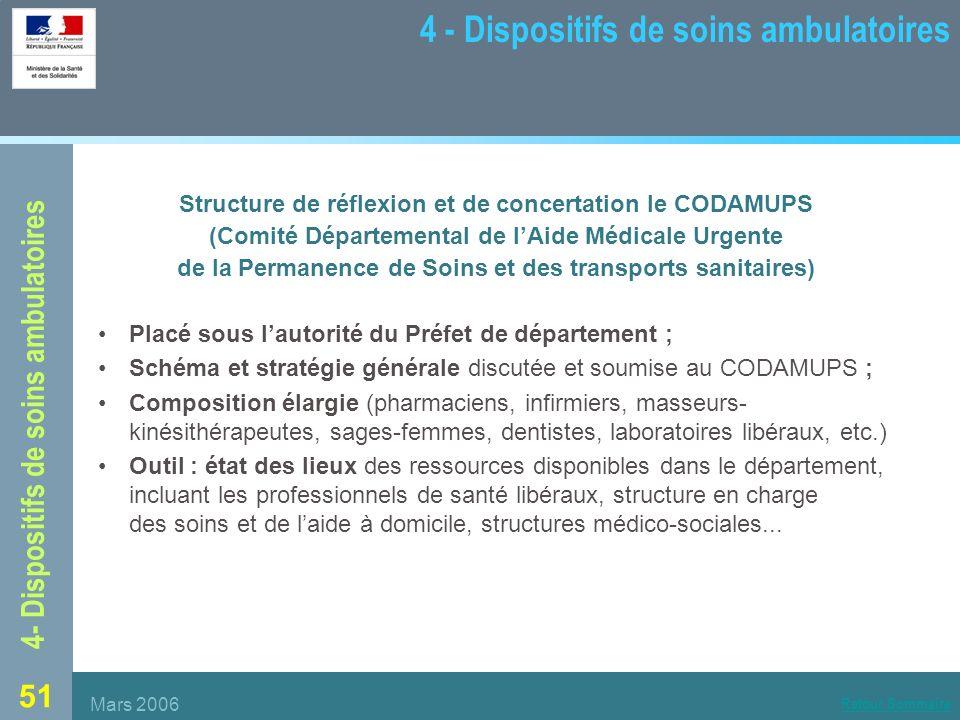 4 - Dispositifs de soins ambulatoires