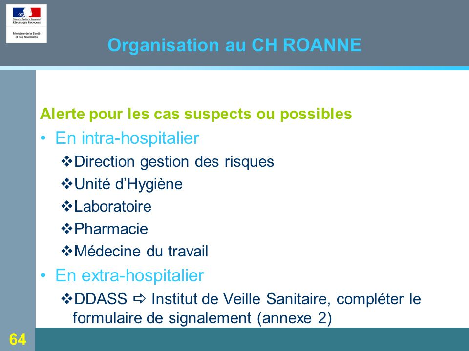 Organisation au CH ROANNE