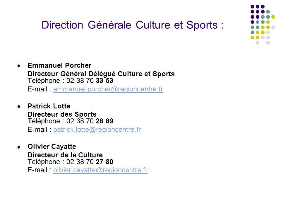 Direction Générale Culture et Sports :