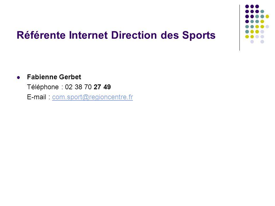 Référente Internet Direction des Sports